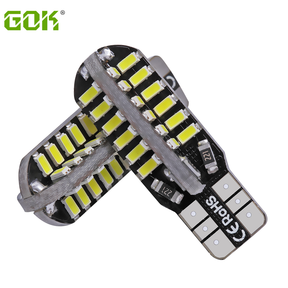 Super Bright 2 X T10 led canbus W5W T10 48smd 3014 led Canbus NO ERROR Car Auto Bulbs Indicator Light White light sport car style 2 led white light flashlight keychain w sound effect red 4 x lr41