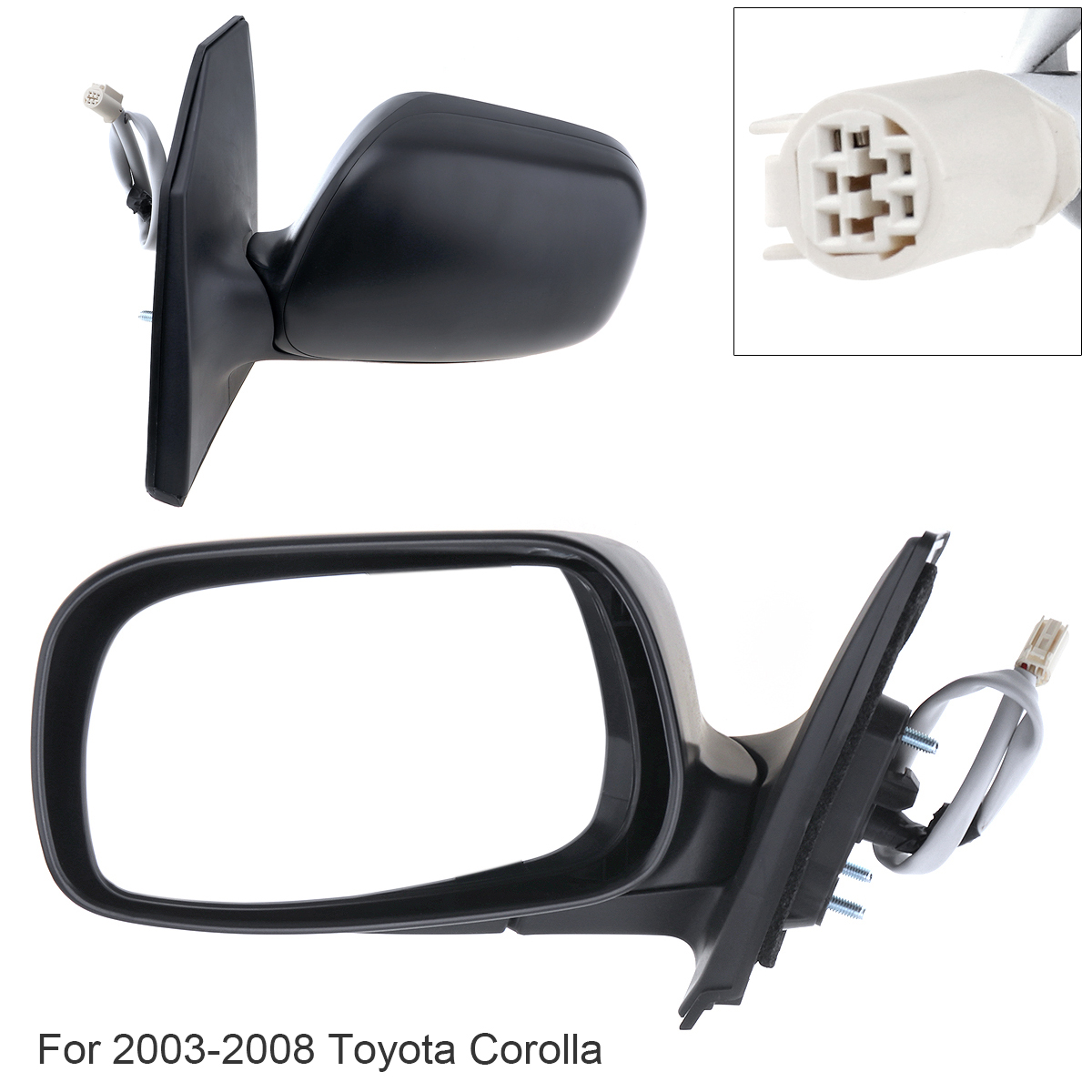 Durable Non Folding Car Left Side Mirror Left Hand LH Mirror for 2003 2008 Toyota Corolla