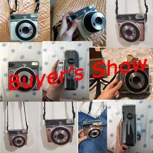 Image 5 - Besegad şeffaf plastik koruyucu kılıf kapak için ayarlanabilir omuz askısı ile Fujifilm Instax kare SQ6 SQ 6 kamera