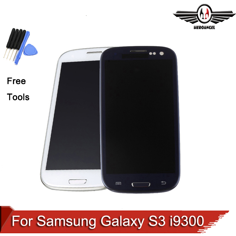 LCD For Samsung Galaxy S3 i9300 LCD Display Touch Screen with Digitizer Assembly White Blue