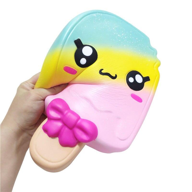 Jmbo 11Inch Kawaii Icecream squishies Toys Soft PU Anti Stress Slow Rising Squeeze Toys Big Size 28CM Ornament Decoration