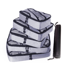 цены Travel Bags Packing Cube 5PCS/Set Portable Oxford Cloth Travel Mesh Bag Luggage Organizer Packing Cube Organiser Travel Bags