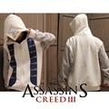 (HD16) Осень Зима Assasins Creed Толстовка Мужчины Белый Косплей Толстовка Костюм Мужские Толстовки Куртки