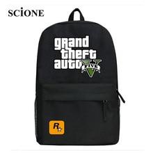 2017 GTA5 GTA PC Games Mochilas School Kids Backpack For Teenagers Bags Anime Bag Mochila Surrounding