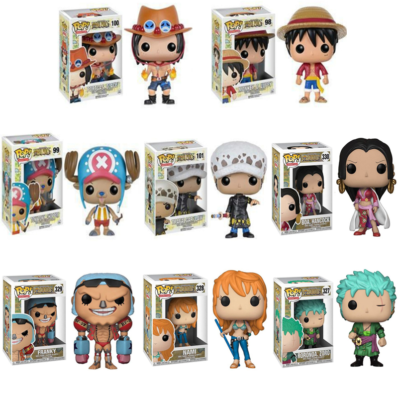 Funko Pop One Piece ZORO Monkey D. Luffy NAMI FRANKY Action Figure PVC Model Toys Birthday Gift