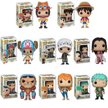 Funko Pop One Piece ZORO Monkey D. Luffy NAMI FRANKY PVC Action Figure Modelo Brinquedos Presente de Aniversário(China)
