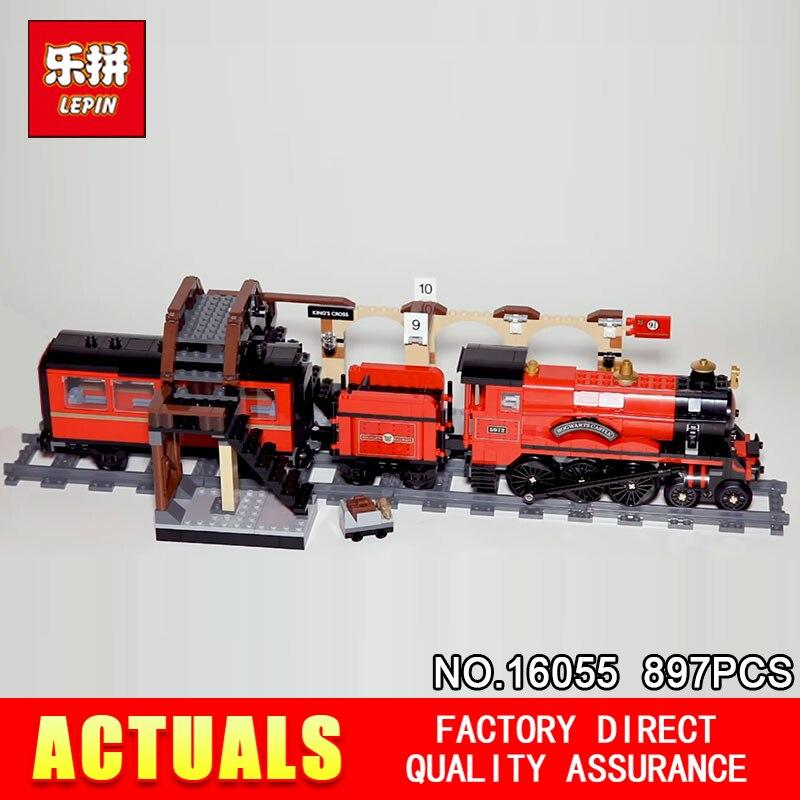 2018 Lepin 16055 Harry Potter Magique Poudlard Express Train Blocs Briques Compatible Avec Le 75955 Modèle de Bâtiment Cadeau Assemblé