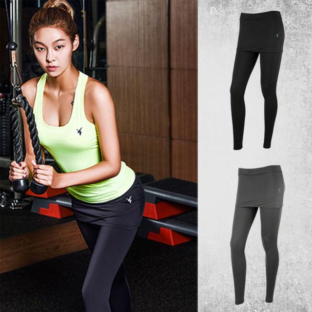 5ccdcf9319 [AKIII CLASSIC] Famous Korea Fitness Brand Yoga Leggings Running Cover up  Skirt Leggings-MADE IN KOREA