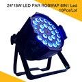 (10 teile/los) 24Pcs * 18W LED PAR RGBWAP 6IN1 Led Bühne Lichter Für Nacht Club Party Bühnen Beleuchtung-in Bühnen-Lichteffekt aus Licht & Beleuchtung bei