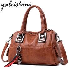 Brand Women Handbags Vintage High Quality Leather Ladies Luxury Shoulder Bags Women Casual Big Tote Messenger Bag For 2019 цена в Москве и Питере