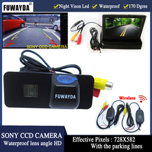 FUWAYDA HD  Auto Parking SONY CCD rear view car camera 4.3 inch Mirror Monitor for VW GOLF4 5 6 MK4 MK5 EOS LUPO BEETLE Superb