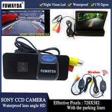FUWAYDA HD Auto Parking SONY CCD achteruitrijcamera auto camera 4.3 inch spiegel Monitor voor VW GOLF4 5 6 MK4 MK5 EOS LUPO BEETLE Superb(China)
