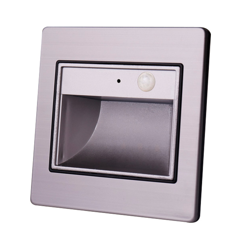 1pc 86 LED embedded foot light Infrared body sense switch control stairs garden indoor outdoor lamp 220v 110v in LED Indoor Wall Lamps from Lights Lighting