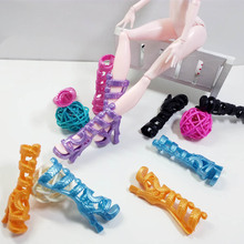 Fashion Shoes For Monster High Dolls High Quality High Heel Boots Shoes Doll Accessories Kids Toy