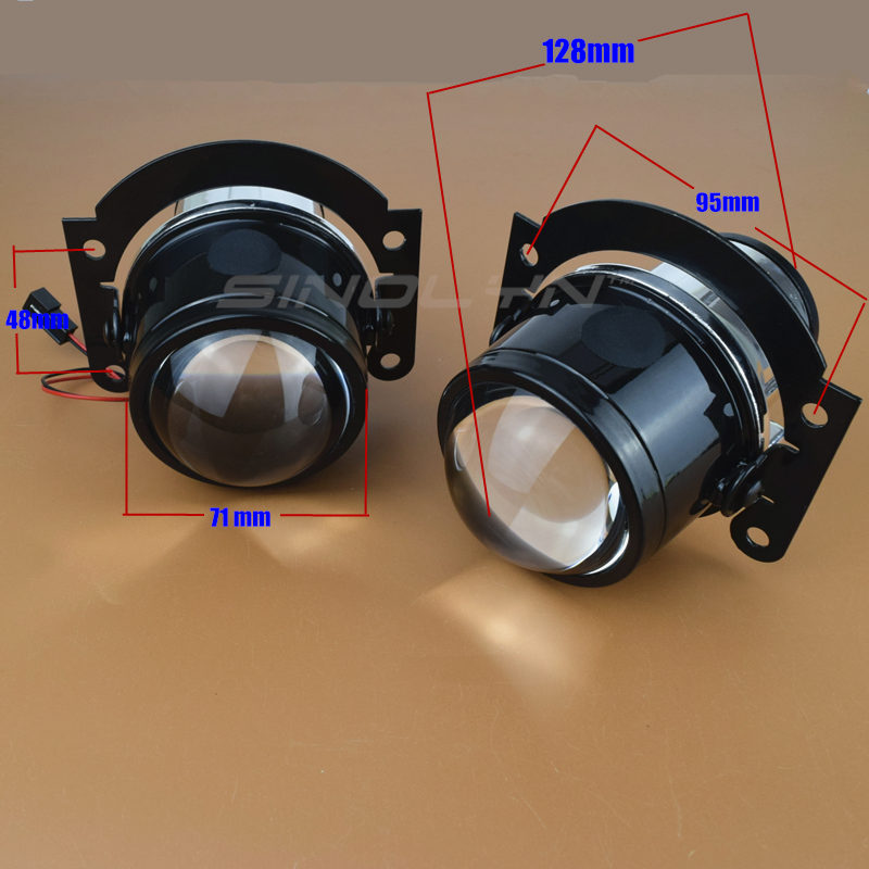 SINOLYN HID Bi xenon Fog Lights Projector Lens Driving Lamp H11 High Low For Car Motorcycle Retrofit DIY Universal Waterproof-in Car Light Assembly from Automobiles & Motorcycles    3