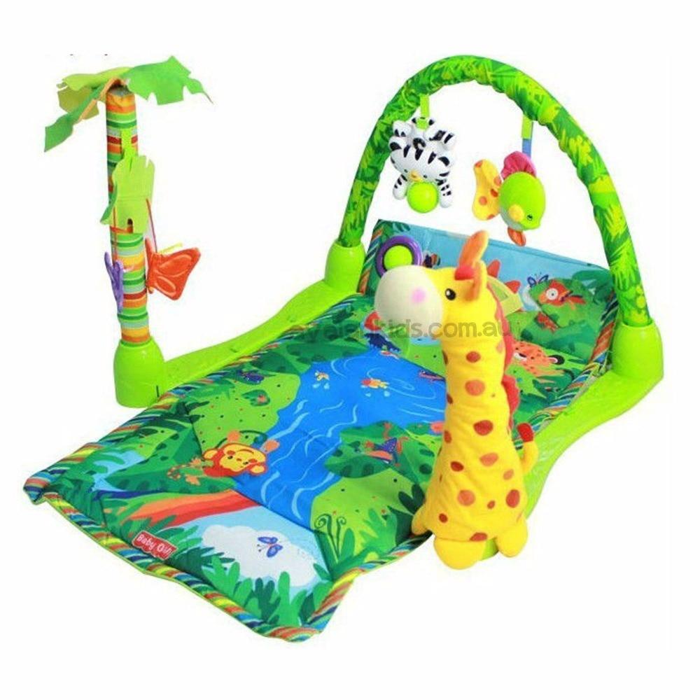Rainforest Play Mat Newborn Baby Activity Gym Tummy Time With Music Avalan Kids  цены