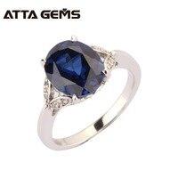 Blue sapphire sterling silber ring, 5 karat sapphire ovale form in 9mm * 11mm, kurze und mode-design, top qualität sapphire ring