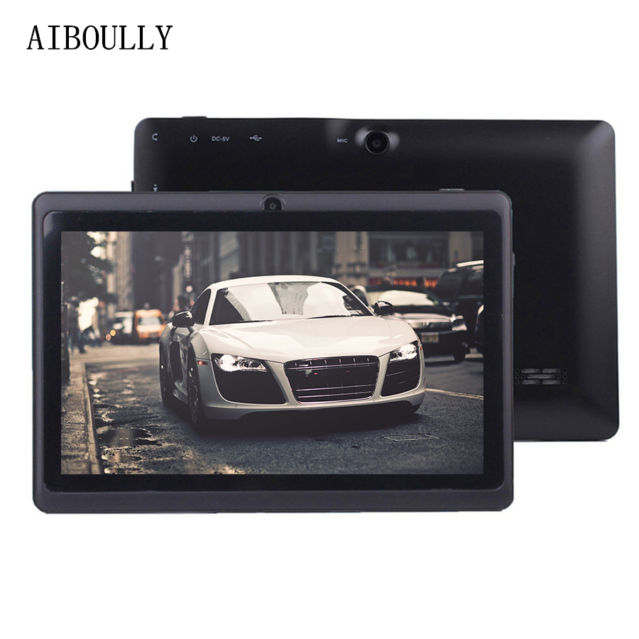 AIBOULLY Original 7 inch Android 6.0 Tablets Pc 1GB+8GB Quad Core WiFi BT Tablet Pc OTG Microphone 3000 mAh 6.0 OS New Tab 7 8' цена