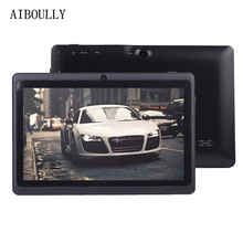 AIBOULLY Original 7 inch Android 6.0 Tablets Pc 1GB+8GB Quad Core  WiFi BT Tablet Pc OTG Microphone 3000 mAh 6.0 OS New Tab 7 8'