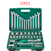 37PCS Ratchet Wrench Set Wrench Combination Set Torque Wrench Set Car Tools Set of Keys for Car Repair
