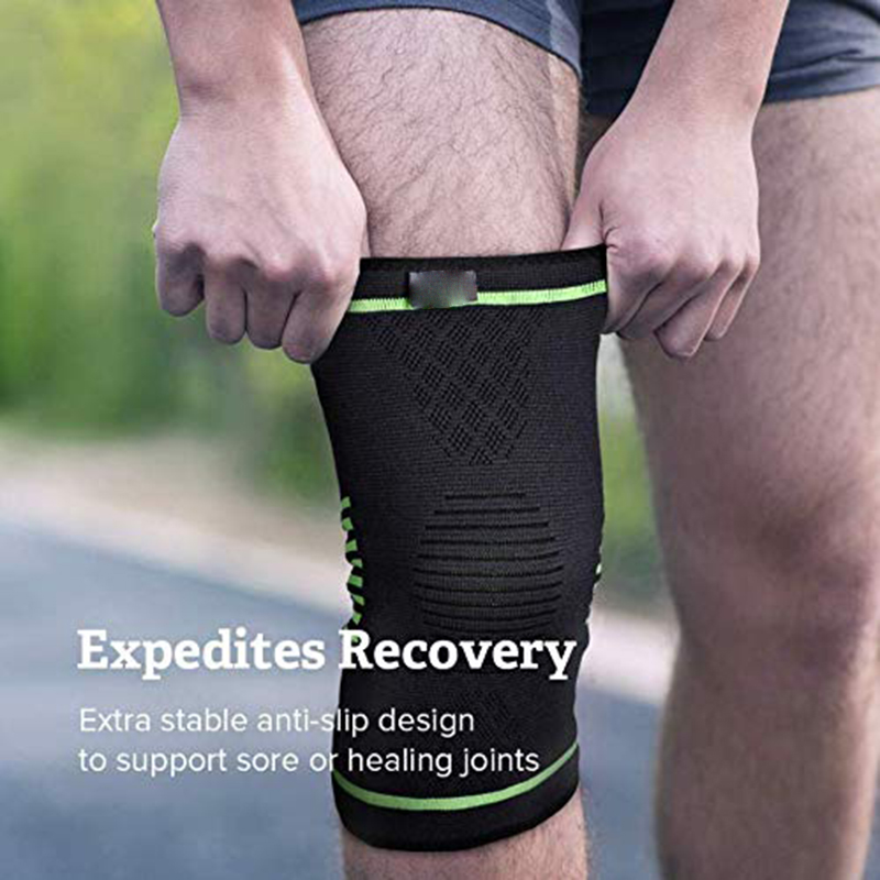1 Pair Knee Brace Compression Sleeve FDA Approved Support for Arthritis Running Biking Basketball Sports Joint Pain Relief in Elbow Knee Pads from Sports Entertainment