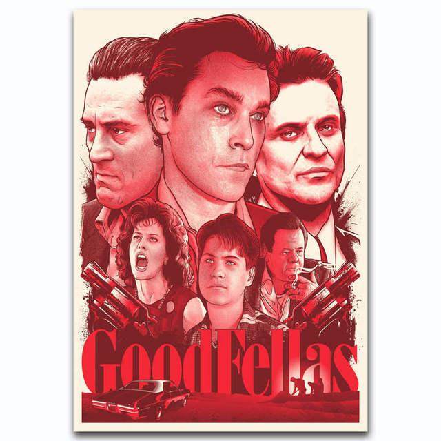 Klasyczny Film Goodfellas G2482 Walki Rocznika A4 Sztuki Plakat Silk światło Płótnie Malarstwo Print Plakaty Home Decor ściany W Klasyczny Film