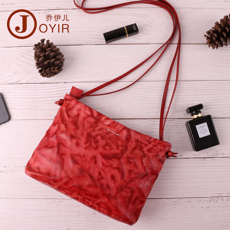 Joyir vintage Genuine Leather Women shoulder bag Luxury Design Crossbody Bag For Lady Fashion Pure color woman messenger bags vintage women s crossbody bag with color block and buckle design