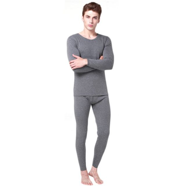 8a30ba50f358 Winter Men 2Pcs Cotton Thermal Underwear Set Warm Thicken Long Johns Tops  Bottom Clothes 3 Colors