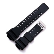 лучшая цена Rubber Silicone Men Sport Diving Watch Band Strap For g-shock GD120/GA-100/GA-110/GA-100C Metal Buckle Substitute Watchbands