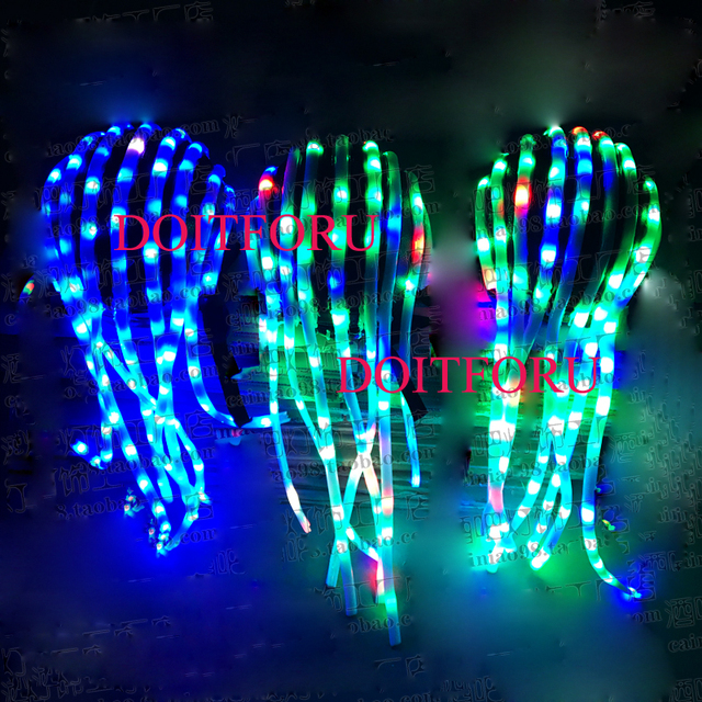 Free Shipping Glow Party Supplies Light Up Led Light Hair Glowing