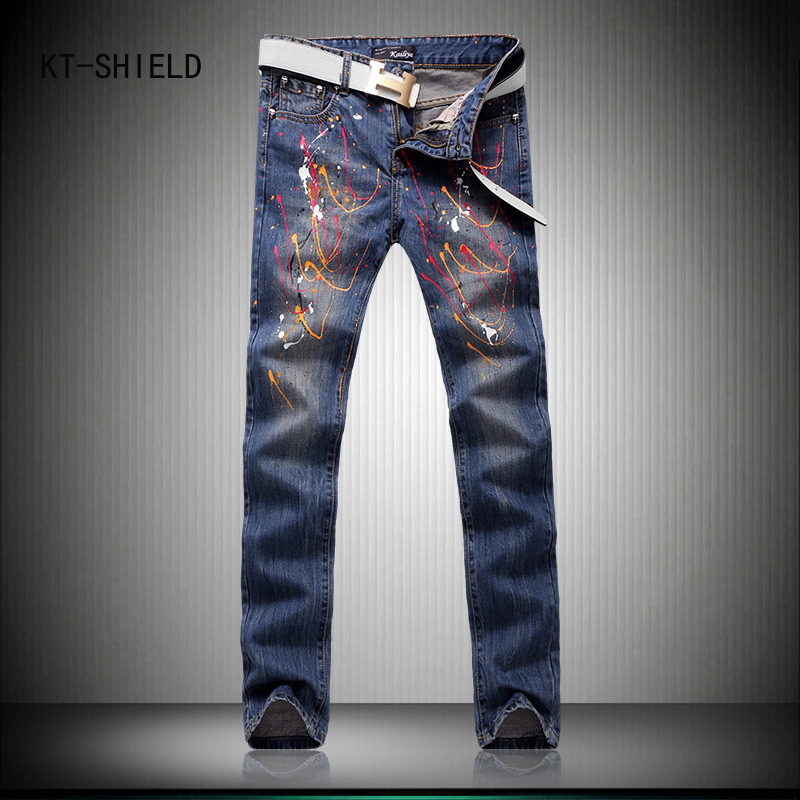 High Quality 3D Printed Jeans Men Fashion Denim Mens Jeans New Famous Brand Elastic Skinny Jeans Casual Men joggers cargo pants high quality 3d printed biker jeans for men fashion denim mens jeans new famous brand elastic skinny jeans casual men clothing