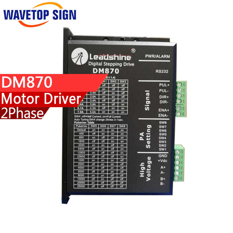 leadshine 2phase step motor driver DM870 voltage DC18-70V current 2.6-7.0A match with motor 57 86