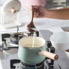 16 см фарфоровый эмалированный молочный горшок 1.7л для приготовления пищи с антипригарным покрытием мини-суп с крышкой индукционная плита газовая плита Применимая кухонная посуда