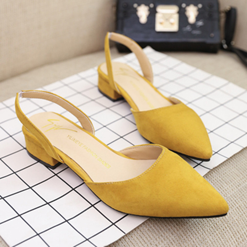 women Sandals flat slingback sandals piont toe suede quality flats women Summer shoes 39 office casual sandals new fashion 2018