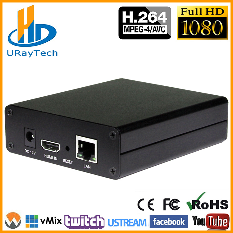 DHL gratis forsendelse H.264 Video Encoder Support HDCP HDMI til IP Live Streaming Encoder IPTV Hardware RTMP RTSP HLS UDP Streamer