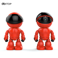 DOITOP Mini Smart IP Robot Camera 960P HD WIFI Two Way Voice Recording Alarm Night Vision