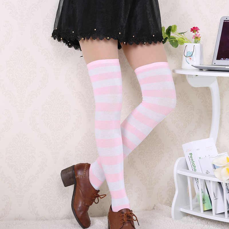 ผู้หญิงลายต้นขาสูงถุงน่องกว่าเข่าถุงเท้ายาวถุงเท้าการบีบอัดถุงน่องคริสต์มาสถุงเท้า medias ฤดูหนาวฤดูใบไม้ร่วง
