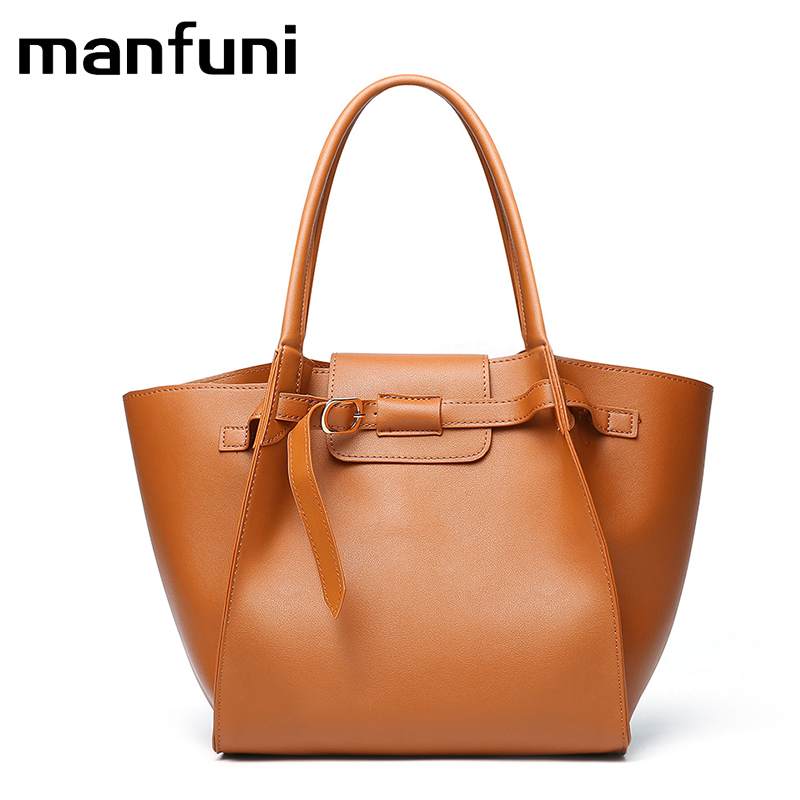 MANFUNI 2018 Leather Handbags <font><b>Big</b></font> Women Shoulder Bags High Quality Female Bags Casual Tote Messenger Bags Ladies Large Bolso