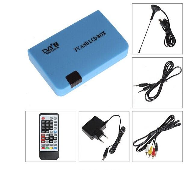 Digitale DVB-T LCD TV Box è compatibile LCD/CRT VGA/AV Sintonizzatore DVB-T FreeView Receiver DVB VGA per monitor del PC TV set DVBS901
