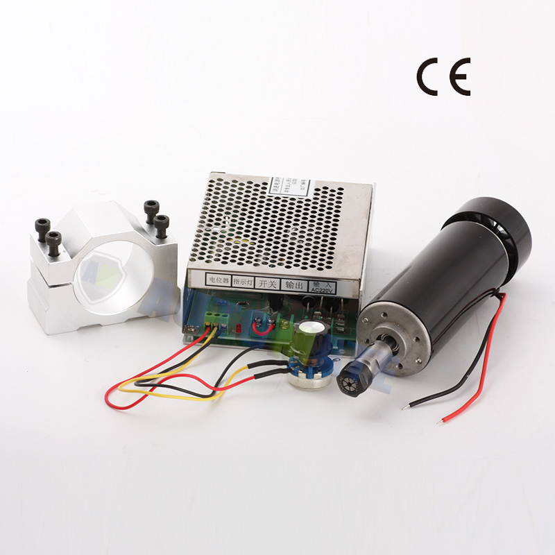 ЧПУ шпинделя 500 Вт с воздушным охлаждением ER11 патрон с ЧПУ 0.5KW фрезерные и шпиндель Скорость Мощность конвертер и 52 мм зажим