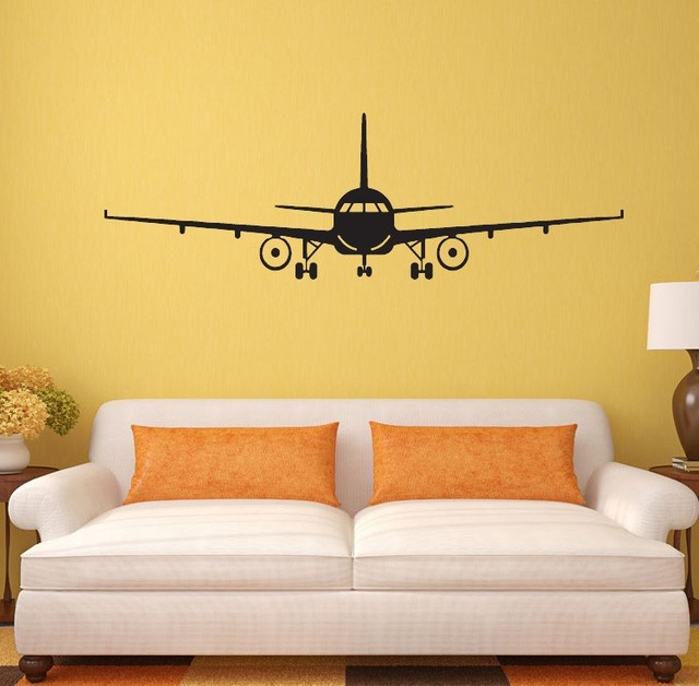 Wonderful Removable 3D Airplane Wall Sticker House Muraux Art Decor Wall Mural Vinyl  Wall Decals Free Shipping