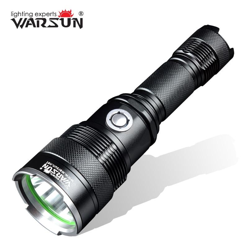WARSUN USB Charger 5 Modes Lanterna Led Tactical Flashlight Outdoor Camping Torch Zaklamp Gladiator Linterna Led Flashlight