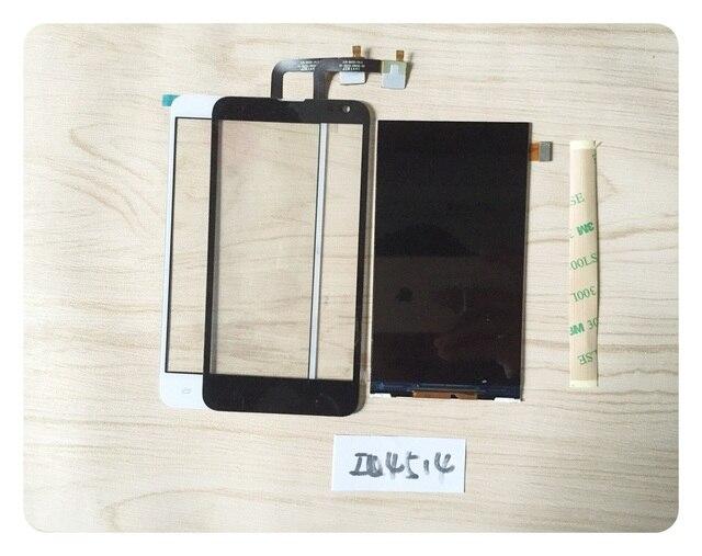 100% probado lcd Para FLY IQ4514 LCD Pantalla + Touch screen Digitalizador Del Sensor + 3 M Etiqueta; envío de seguimiento