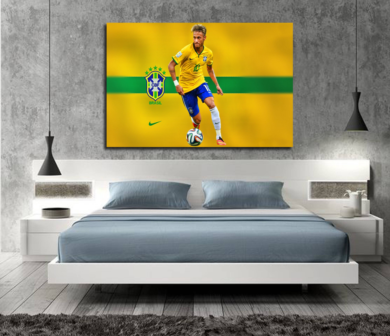 Neymar Poster Neymar JR Posters Wall Art Wall Decor Silk Prints Art ...