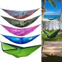 260x140cm Camping Hammock With Mosquito Net Outdoor Camping Mosquito Net Nylon Hammock Hanging Bed Sleeping Swing