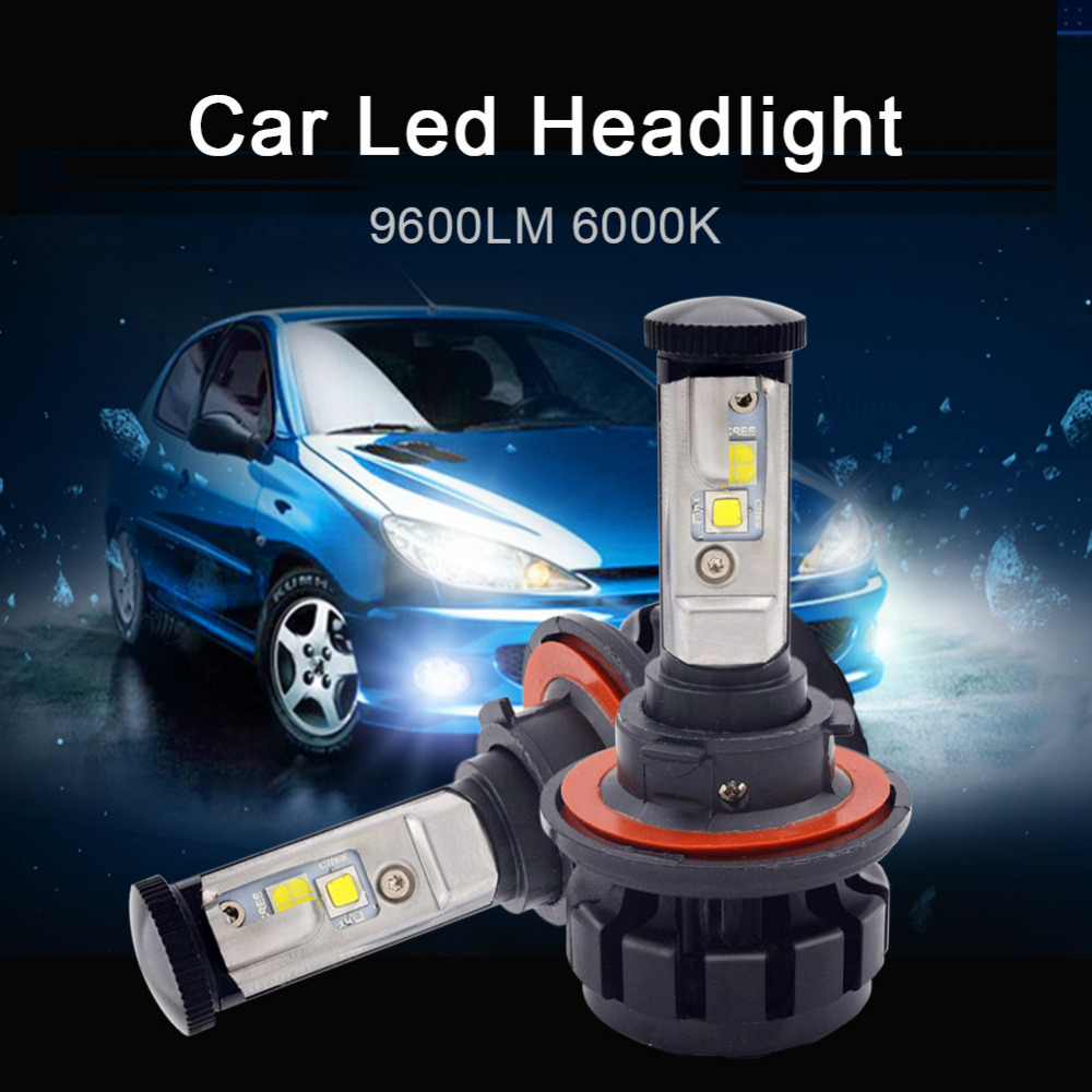 50W 9600LM H13 Led Headlght Bulb All in One Design Hi/Lo Beam Car Headlamp 6000K White Auto Front Fog Light Replacement lamp