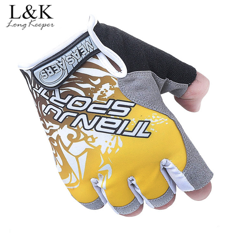 Long Keeper Professional Gym Gloves For Men Sponge Palm Pads Gloves Work Out Sport Gloves Semi-finger Fitness Mittens For Women