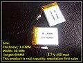 Fabricantes especializados 3.7 V batería de polímero de litio 303040 driving record estéreo Bluetooth podómetro 450 mah
