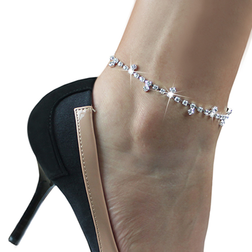 2016 Top Quality Sexy Clear Rhinestone Anklet Foot Sandal Beach Wedding font b Jewelry b font