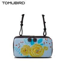 2017 new TOMUBIRD superior cowhide leather Designer Classic Painted Embossed Floral Genuine Leather women Shoulder messenger bag
